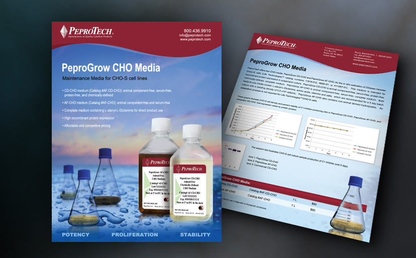 Biotech Graphic Design   Marketing collateral (6 flyers): Cell ...